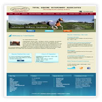 Web Design for Equine Veteranian