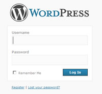 Wordpress Login Screenq