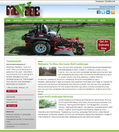 landscape web design Loudoun County, VA