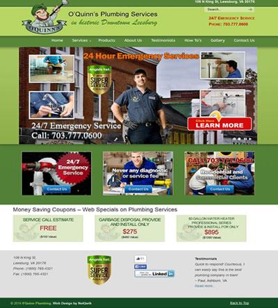Plumbing Contractor Web Design