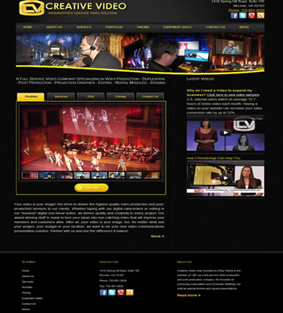 web design creative website