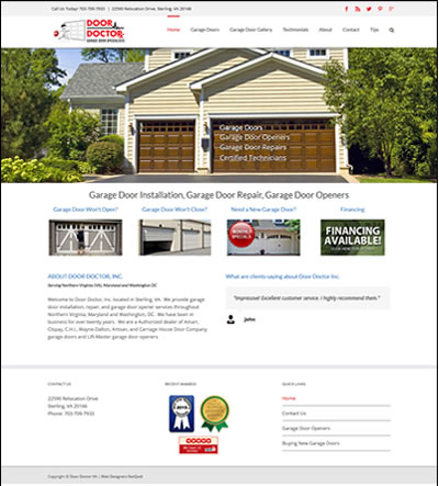 Web Design Garage Door Loudoun County Va