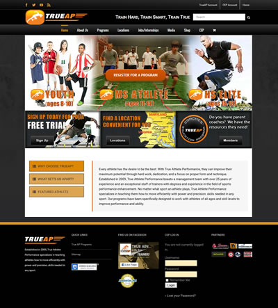 Sports Web Design, Fairfax, VA