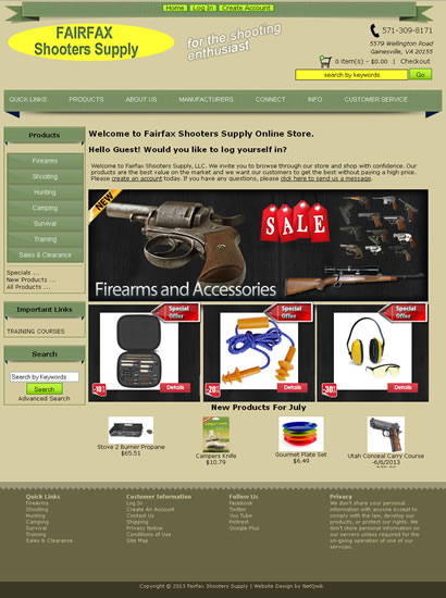 Firearms Web Design