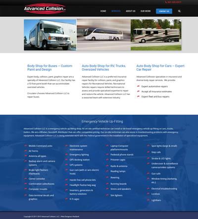 Auto Body Shop Website Design