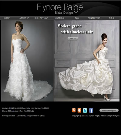 Bridal Shop Web Design