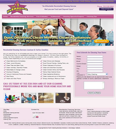 Cleaning Web Design Ashburn, VA