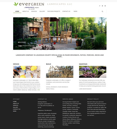 Contractor Website Design Fairfax Northern Virginia
