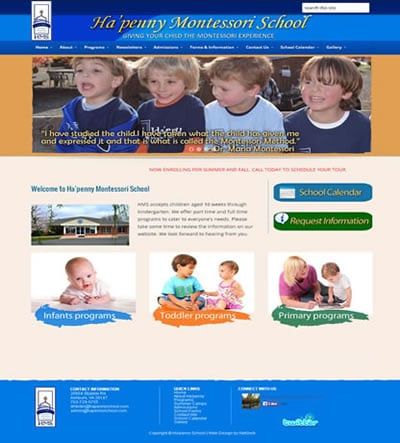 Day Care Web Design Ashburn VA