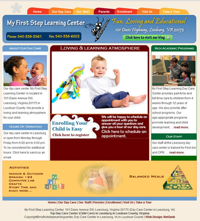 Day care Web Design Leesburg, Virginia