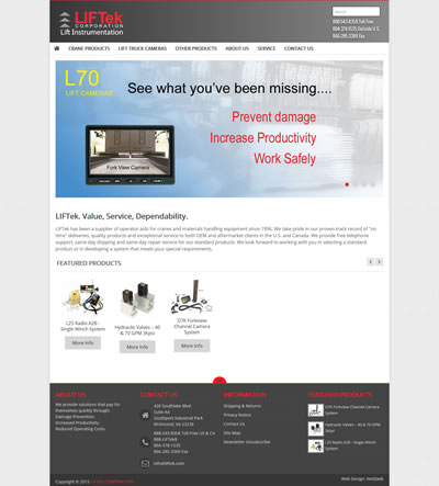 eCommerce Web Design Industrial Products