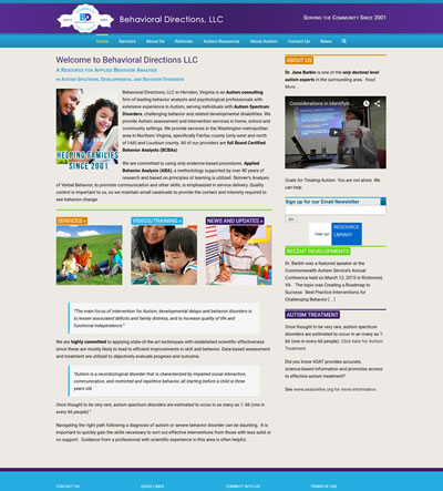 Medical Web Design, Fairfax, Virginia