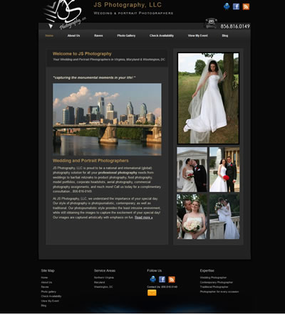 Photographer Web Design Washington DC