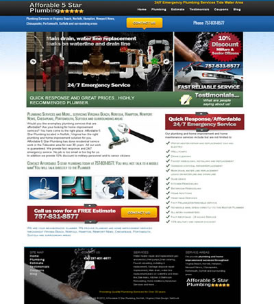 Web Design for a Plumbing Contractor