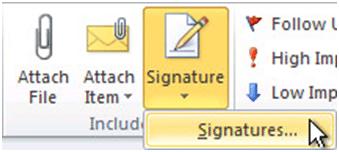 Website signature
