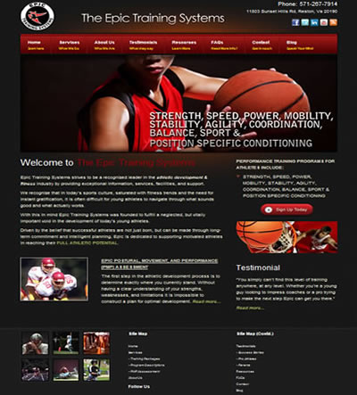 Sports Web Design Reston, VA