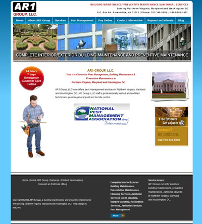 Washington DC Web Design Janitorial Services