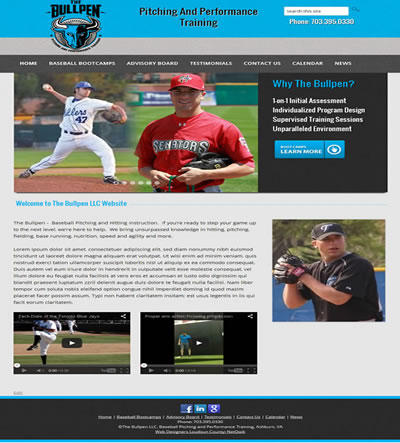 Washington DC Web Design Sports