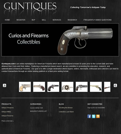 Web Design for Antique Shop Washington DC