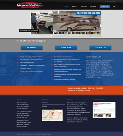 Web Design for an Auto Body Shop