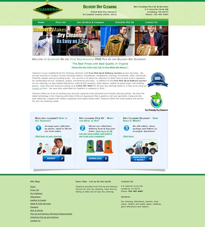 Web Design Cleaners Leesburg Virginia