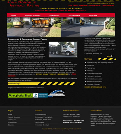 Web Design for a Contractor