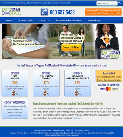 Web Design Divorce Attorney, Virginia