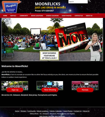 Web Design for Entertainment Company