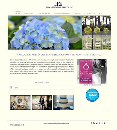 Web Design for Wedding Planner