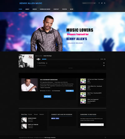 Web Design for a Musician