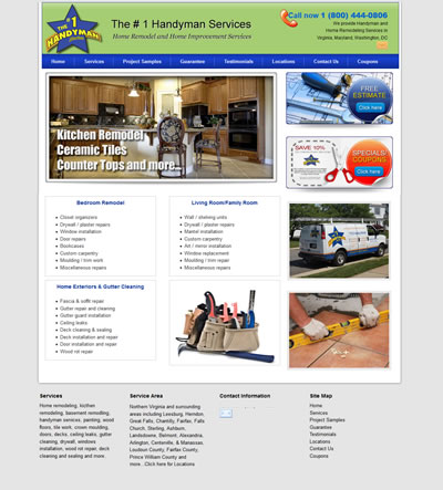Web Design for Handyman in Asburn, Virginia