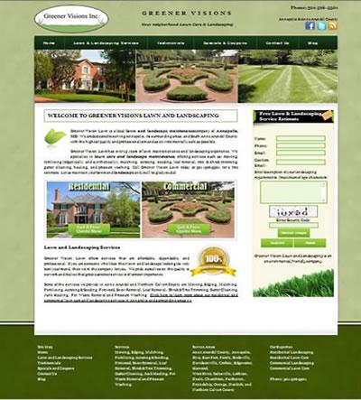 Web Design Landscape Loudoun County VA