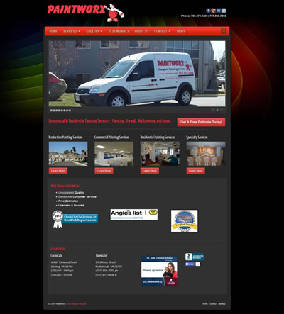 Commercial Painting Web Design