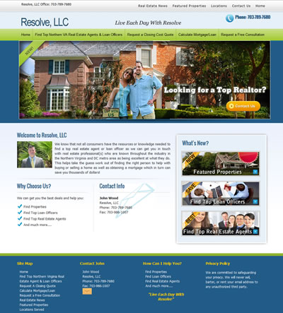 Mortgage Web Design Virginia