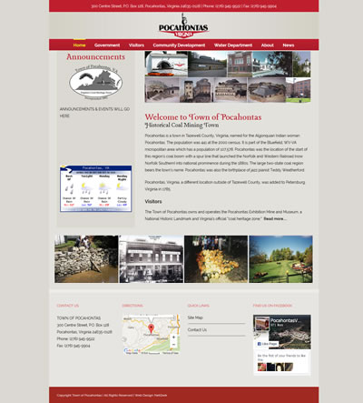 Town Web Design Virginia, USA