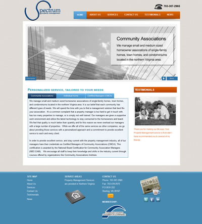 Web Design Property Management Washington, DC