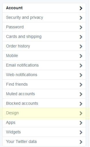 Twitter background customization