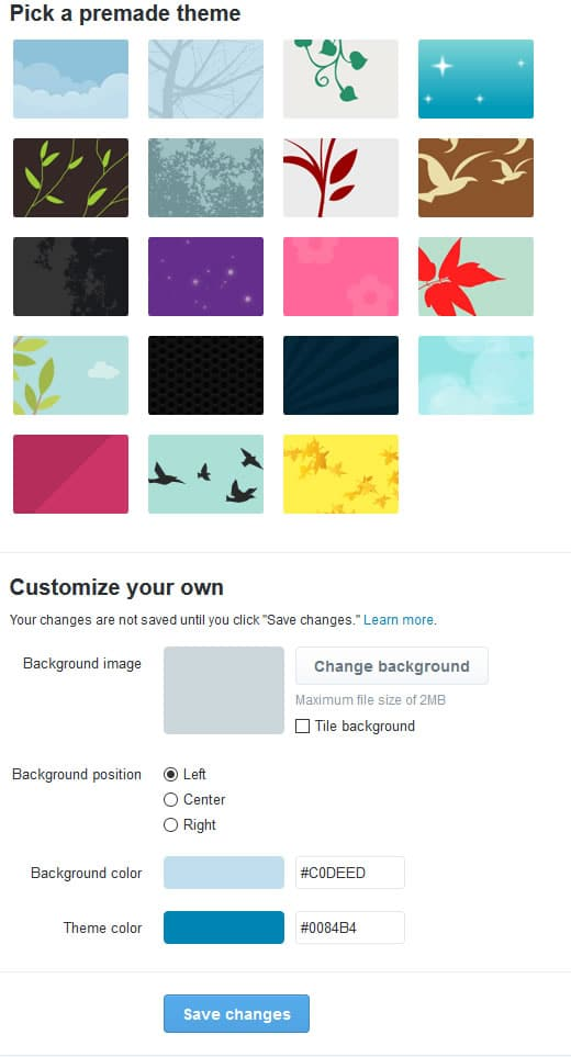 Premade Twitter Theme