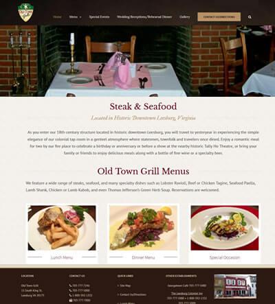Leesburg Restaurant Web Design