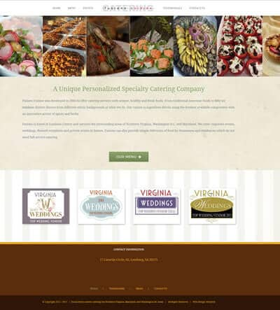 Restaurant Catering Web Design