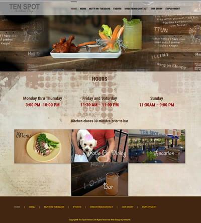 Restaurant Web Design, Leesburg, VA