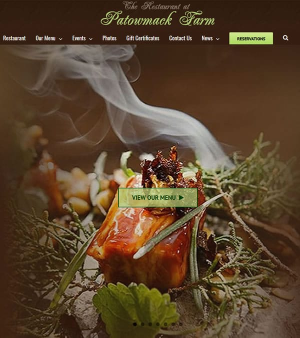 Restaurant Web Design Washington, DC