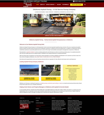 Asphalt Paving Web Design & Marketing