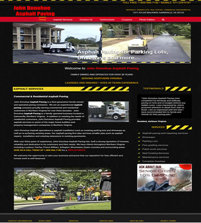 Asphalt Paving Web Design and Marketing