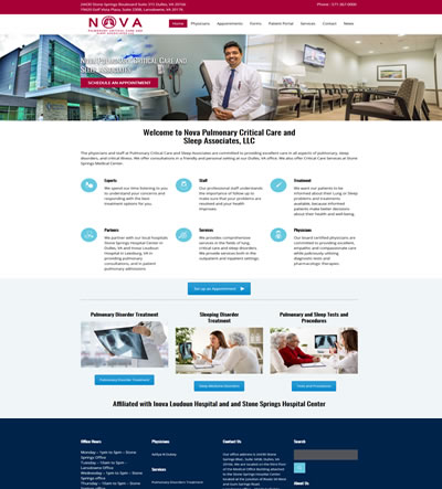 Medical Website Design, Leesburg VA
