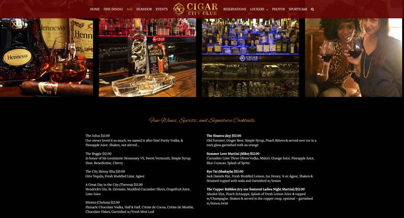 Restaurant Bar Menu