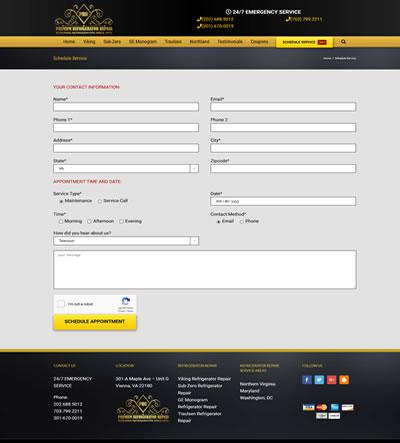 Virginia Home Services Web Design