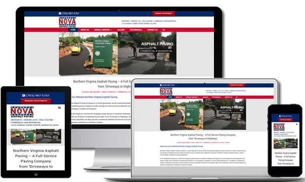 Asphalt Paving SEO & Web Design Virginia