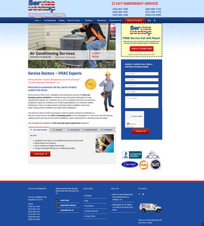 HVAC Contractor Web Design