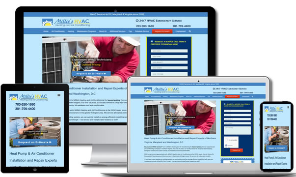 HVAC Contractor Website Design Virginia